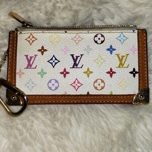 Auth Louis Vuitton Multicolor Key Cles